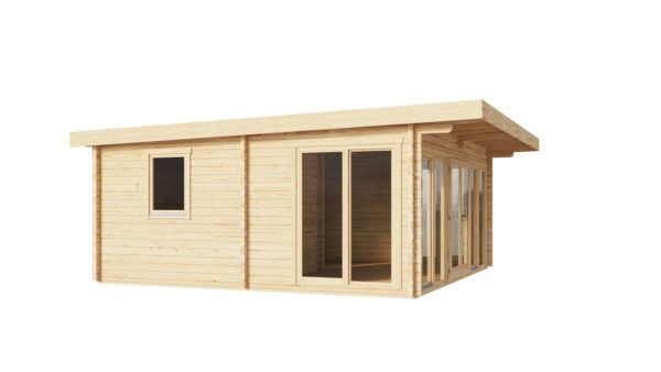Three-room garden annexe TAUNUS 70 | 7 x 6.3 m (22'7'' x 20'8'') 70 mm 7
