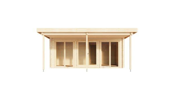 Garden annexe with a veranda TAUNUS 70 + TC | 9.2 x 6.3 m (29'11'' x 20'8'') 70 mm 2