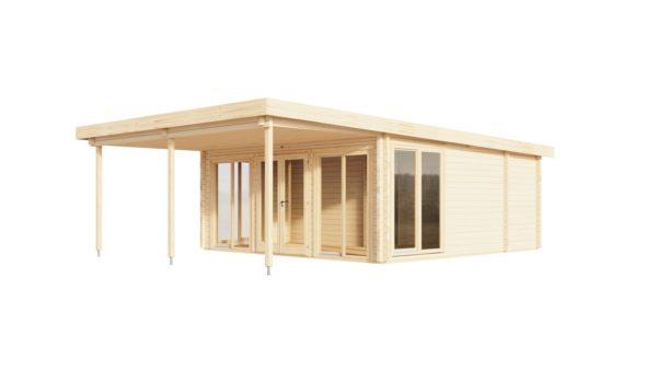 Garden annexe with a veranda TAUNUS 70 + TC | 9.2 x 6.3 m (29'11'' x 20'8'') 70 mm 3