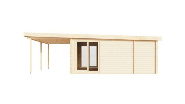 Garden annexe with a veranda TAUNUS 70 + TC | 9.2 x 6.3 m (29'11'' x 20'8'') 70 mm 4
