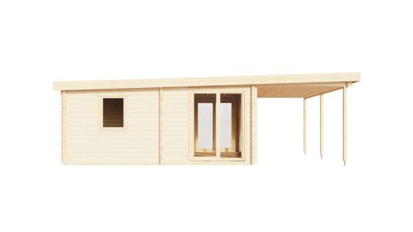 Garden annexe with a veranda TAUNUS 70 + TC | 9.2 x 6.3 m (29'11'' x 20'8'') 70 mm 7