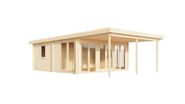 Garden annexe with a veranda TAUNUS 70 + TC | 9.2 x 6.3 m (29'11'' x 20'8'') 70 mm 8