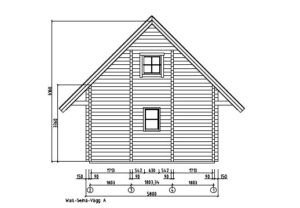 A classical 2-storey log house ANDERS 90 | 8.2 m x 5.5 m (26'10'' x 18') 90 mm 21