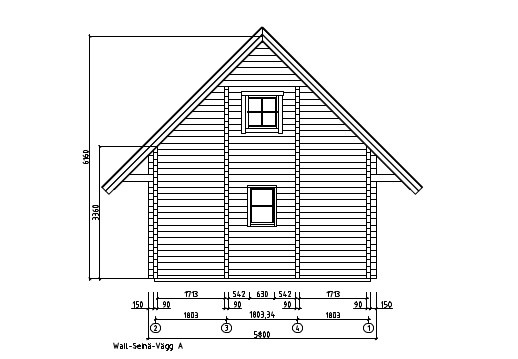 A classical 2-storey log house ANDERS 90 | 8.2 m x 5.5 m (26'10'' x 18') 90 mm 12
