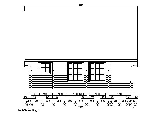 A classical 2-storey log house ANDERS 90 | 8.2 m x 5.5 m (26'10'' x 18') 90 mm 14