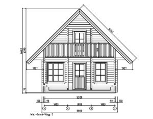 A classical 2-storey log house ANDERS 90 | 8.2 m x 5.5 m (26'10'' x 18') 90 mm 22