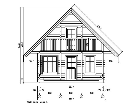 A classical 2-storey log house ANDERS 90 | 8.2 m x 5.5 m (26'10'' x 18') 90 mm 13