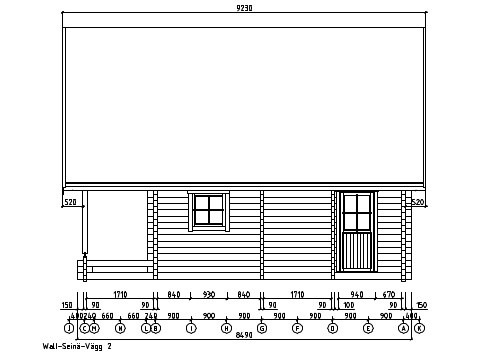 A classical 2-storey log house ANDERS 90 | 8.2 m x 5.5 m (26'10'' x 18') 90 mm 15