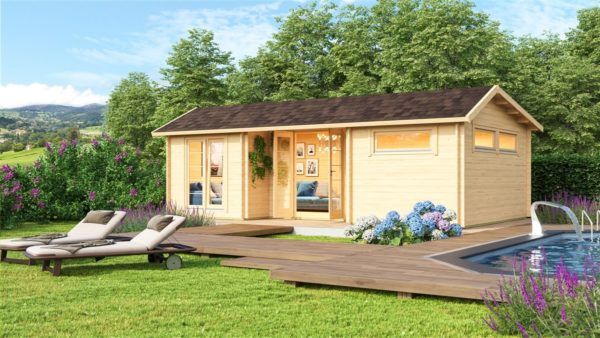 Nordic Quality log cabin URI 70 | 8.6 x 5.1 m (28'3'' x 16'9'') 70 mm 1