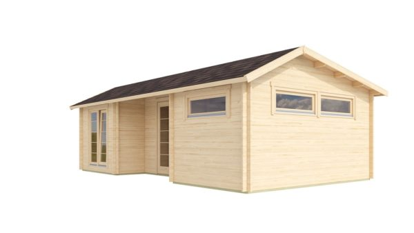 Nordic Quality log cabin URI 70 | 8.6 x 5.1 m (28'3'' x 16'9'') 70 mm 3