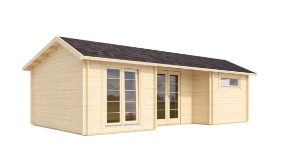 Nordic Quality log cabin URI 70 | 8.6 x 5.1 m (28'3'' x 16'9'') 70 mm 6