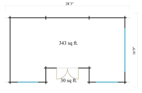 Nordic Quality log cabin URI 70 | 8.6 x 5.1 m (28'3'' x 16'9'') 70 mm 7