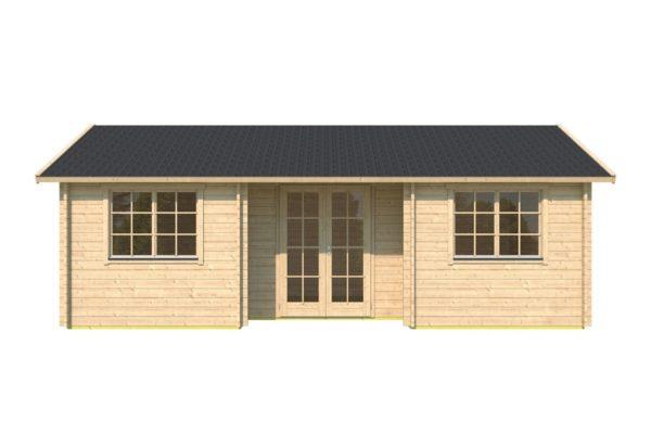 One-room log cabin WALLIS 44 | 8.1 x 4.6 m (26'7'' x 14'11'') 44 mm 2