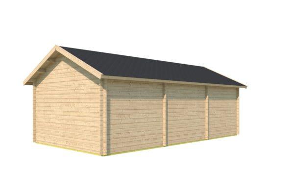 One-room log cabin WALLIS 44 | 8.1 x 4.6 m (26'7'' x 14'11'') 44 mm 4