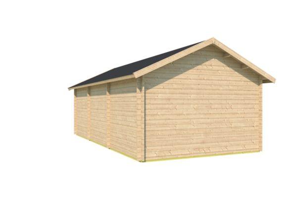 One-room log cabin WALLIS 44 | 8.1 x 4.6 m (26'7'' x 14'11'') 44 mm 5