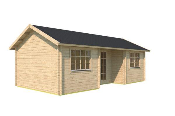 One-room log cabin WALLIS 44 | 8.1 x 4.6 m (26'7'' x 14'11'') 44 mm 6