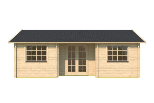 Family log cabin WALLIS 70 | 8.1 x 4.6 m (26'7'' x 14'11'') 70 mm 2