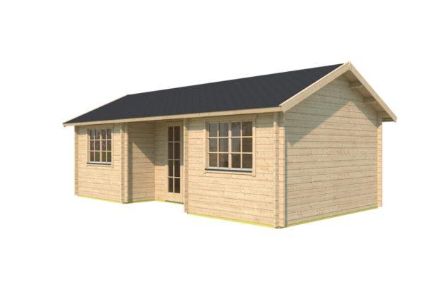 Family log cabin WALLIS 70 | 8.1 x 4.6 m (26'7'' x 14'11'') 70 mm 3