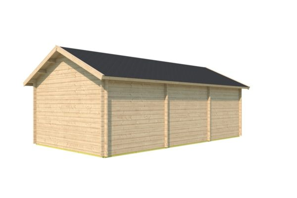 Family log cabin WALLIS 70 | 8.1 x 4.6 m (26'7'' x 14'11'') 70 mm 4