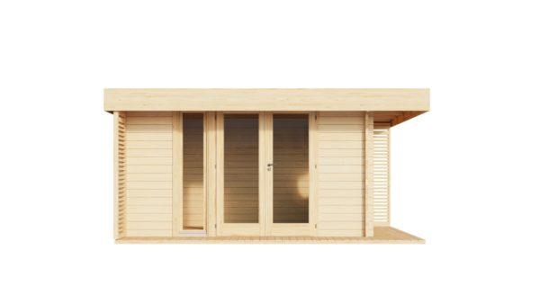 Cosy wooden garden room YORK 70 | 4.1 x 5.1 m (13'6'' x 16'10'') 70 mm 3