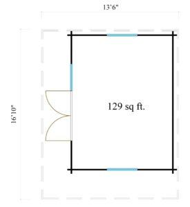 Cosy wooden garden room YORK 70 | 4.1 x 5.1 m (13'6'' x 16'10'') 70 mm 9