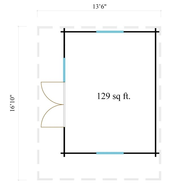 Cosy wooden garden room YORK 70 | 4.1 x 5.1 m (13'6'' x 16'10'') 70 mm 7