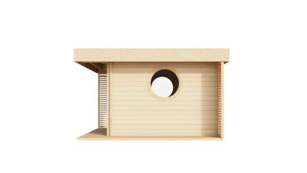 Cosy wooden garden room YORK 70 | 4.1 x 5.1 m (13'6'' x 16'10'') 70 mm 5