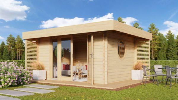 Cosy wooden garden room YORK 70 | 4.1 x 5.1 m (13'6'' x 16'10'') 70 mm 1