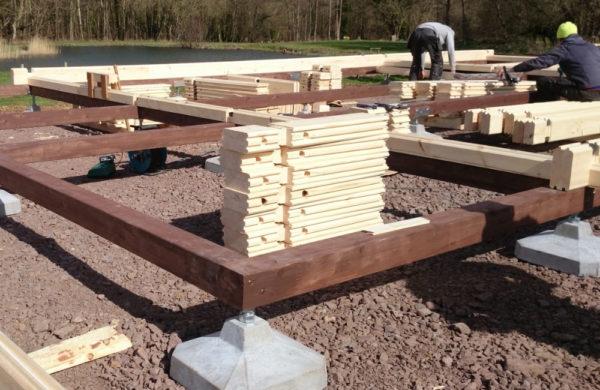 Timber Frame & Block Foundation