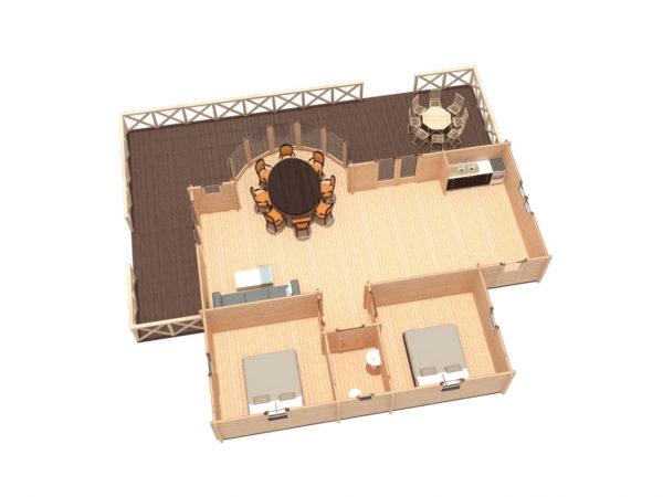 GOREY - SPACIOUS LOG CABIN 8.3m X 11m 16