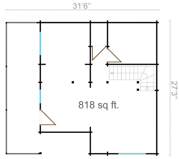 BUENASUERTE 70 - LOG HOUSE WITH A TERRACE 14