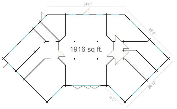 BUTTERFLY - MODERN LOG CABIN 10