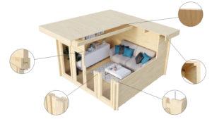 BUTTERFLY - MODERN LOG CABIN 11
