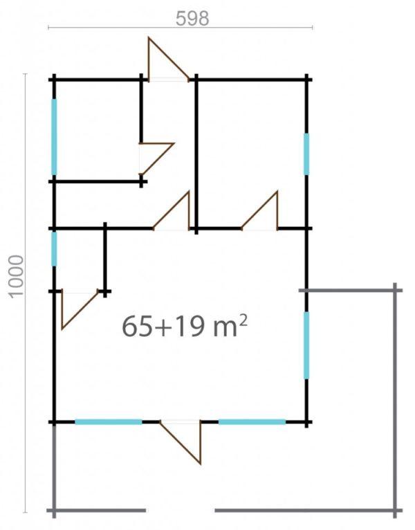 ESMERALDA 90 - LOG HOUSE WITH SAUNA 9