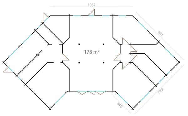 BUTTERFLY - MODERN LOG CABIN 9