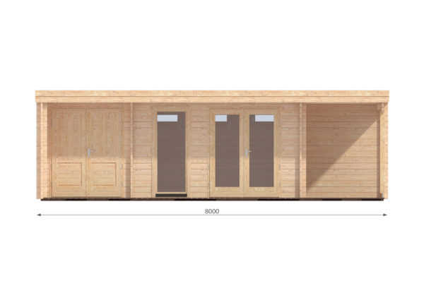 CARLOW LOG CABIN   4.2m X 8m 11