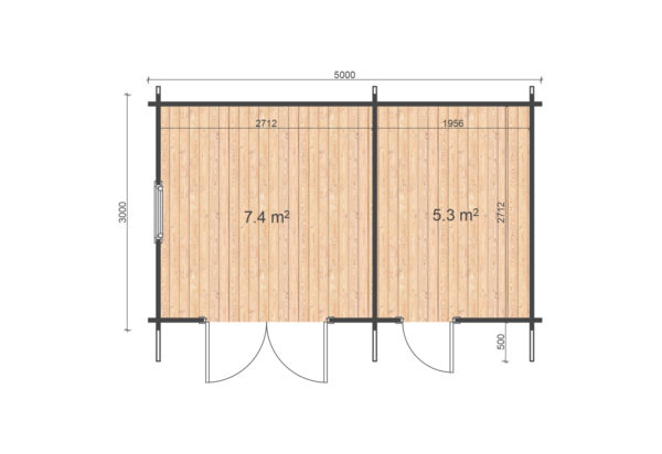 SWORDS LOG CABIN | 5m X 3m 5