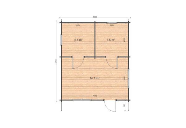NAAS CABIN | 5m X 5.7m 10