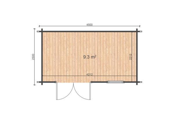 MONKSTOWN LOG CABIN | 2.5m X 4.5m 4