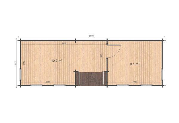 SHANKILL LOG CABIN | 3m X 9m 9