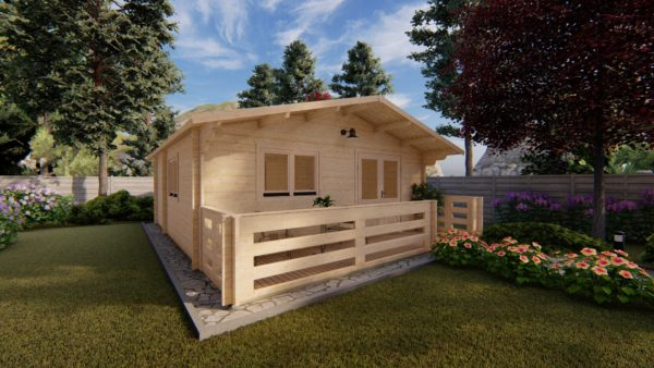WATERFORD LOG CABIN | 6m X 6m + WC 3