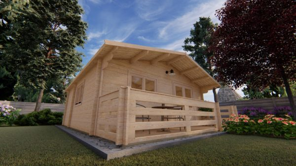 WATERFORD LOG CABIN | 6m X 6m + WC 6