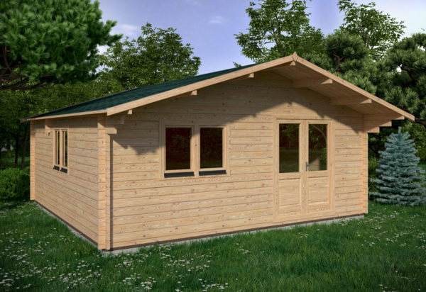 WATERFORD LOG CABIN | 6m X 6m + WC 1