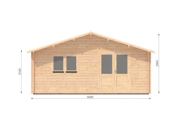 WATERFORD LOG CABIN | 6m X 6m + WC 10