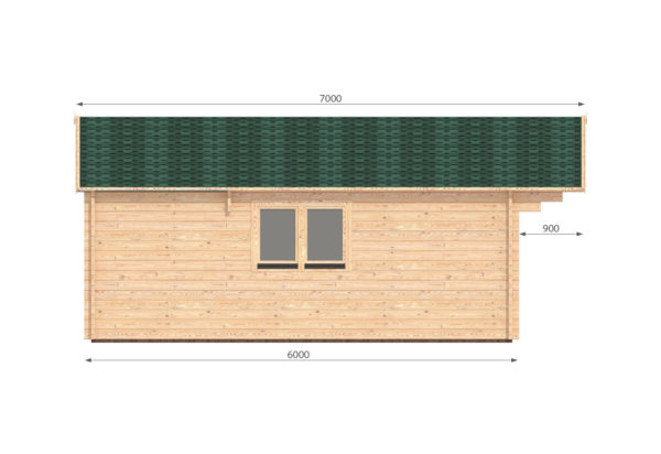 WATERFORD LOG CABIN | 6m X 6m + WC 11