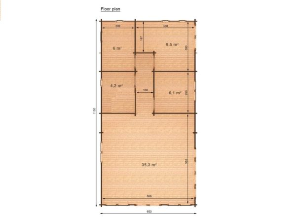 GALWAY LOG CABIN | 11.5m X 6m 22