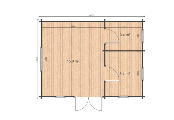 DUNBOYNE LOG CABIN | 6m X 4.5m 3