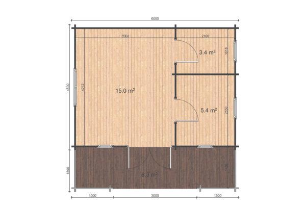 MALAHIDE A LOG CABIN | 6m X 4.5m 11