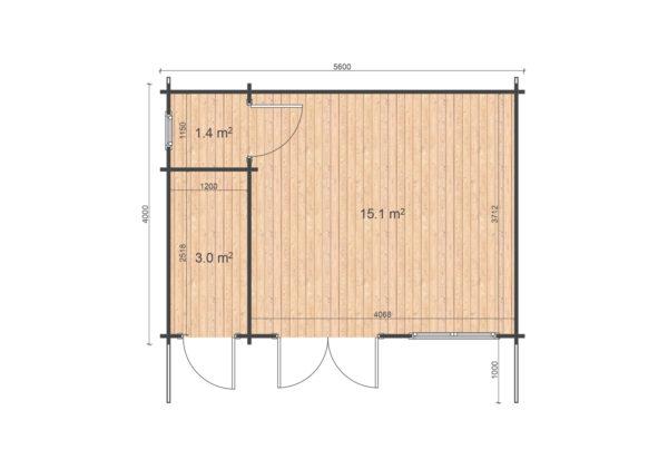 ASHBOURNE LOG CABIN | 5.6m X 4m 7