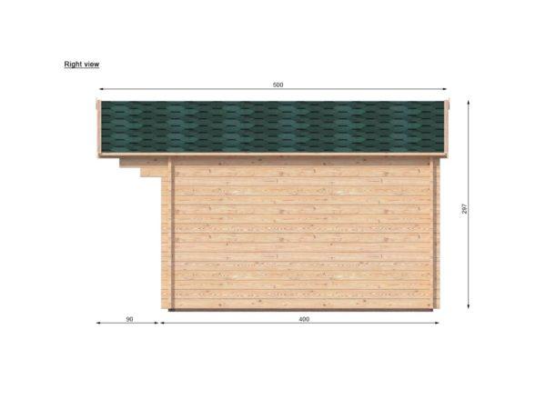 ASHBOURNE LOG CABIN | 5.6m X 4m 11